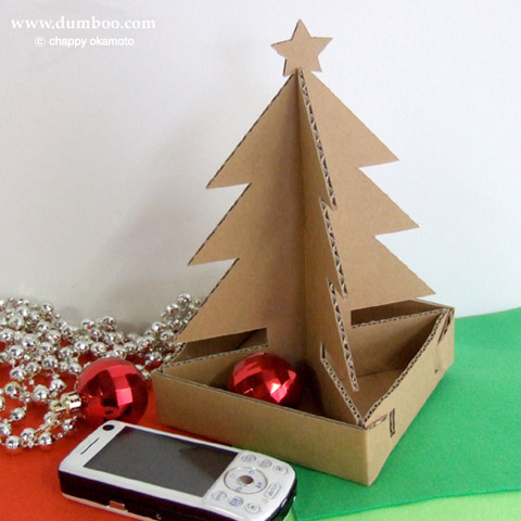 ダンボール製ミニクリスマスツリー工作キット