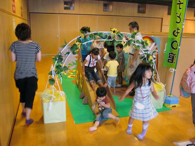 子供用イベント巨大ダンボール迷路滑り台