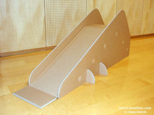 子供用イベント強化ダンボール製滑り台