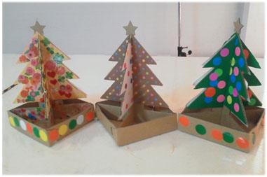 「ミニクリスマスツリーセット」お客様制作例