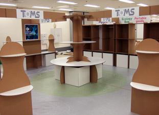 強化ダンボール製展示ブースデザイン設計施工例