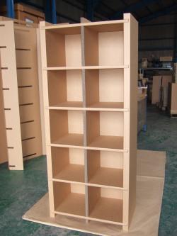 強化ダンボール製オーダーメイド収納棚本棚