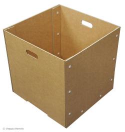 カフェ・ショップ用オリジナル収納箱:強化ダンボール製