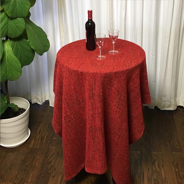 強化ダンボール製スタンディング丸テーブル使用例