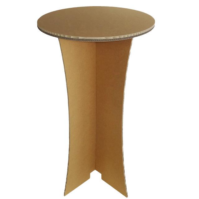 強化ダンボール製スタンディング丸テーブル