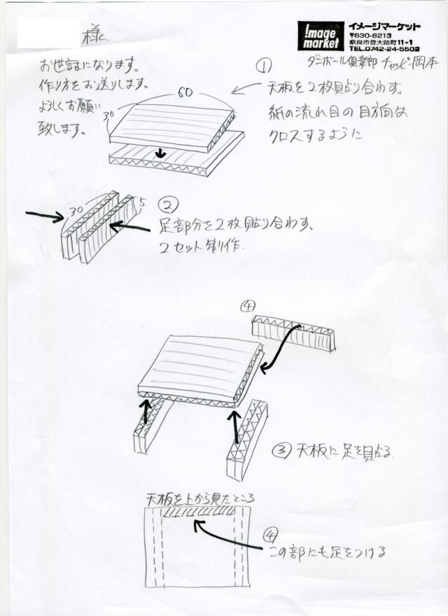 ダンボール家具の作り方