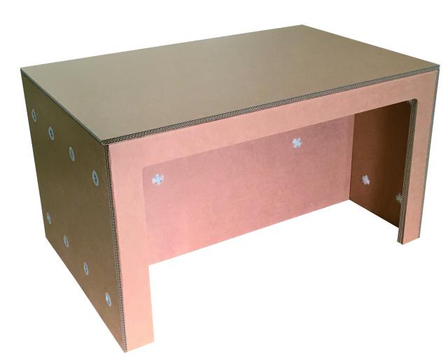 カフェ・ショップ用オリジナルテーブル:強化ダンボール製